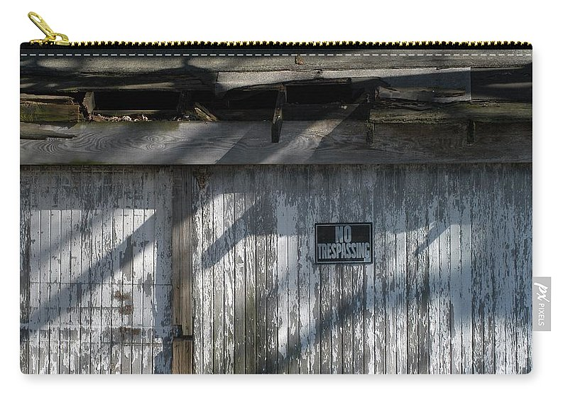 Decay Carry-all Pouch featuring the photograph No Trespassing by Joseph Yarbrough