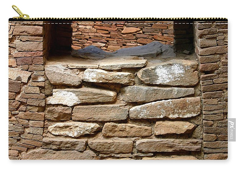 Ruins Carry-all Pouch featuring the photograph No Way In Or Out by Joe Kozlowski