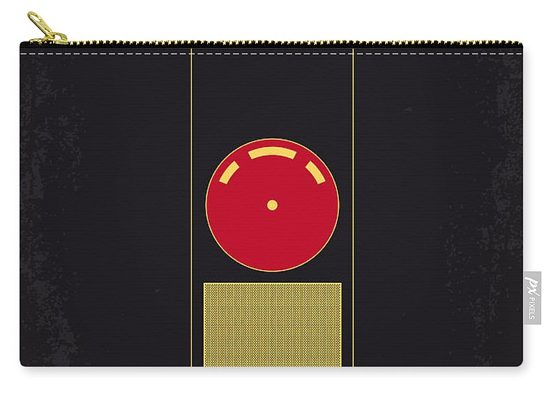 2001: A Space Odyssey Carry-all Pouch featuring the digital art No003 My 2001 A Space Odyssey 2000 Minimal Movie Poster by Chungkong Art