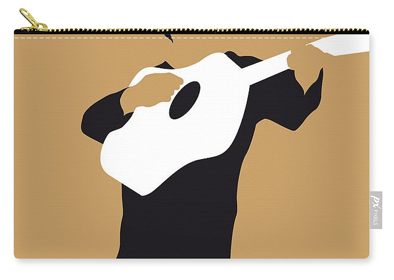 Johnny Carry-all Pouch featuring the digital art No010 My Johnny Cash Minimal Music Poster by Chungkong Art