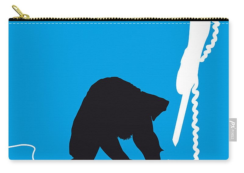 The Clash Carry-all Pouch featuring the digital art No029 My The Clash Minimal Music Poster by Chungkong Art