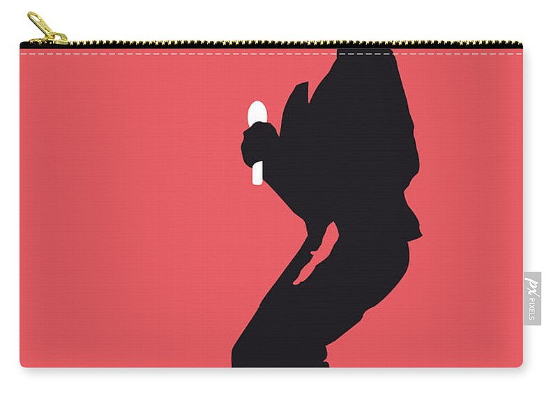Michael Carry-all Pouch featuring the digital art No032 My Michael Jackson Minimal Music Poster by Chungkong Art
