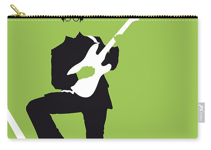 Buddy Carry-all Pouch featuring the digital art No056 My Buddy Holly Minimal Music Poster by Chungkong Art
