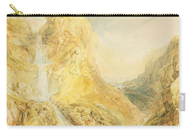 29 1x41 8cm Carry-all Pouch featuring the painting No.0571 Mossdale Fall, Yorkshire by Joseph Mallord William Turner