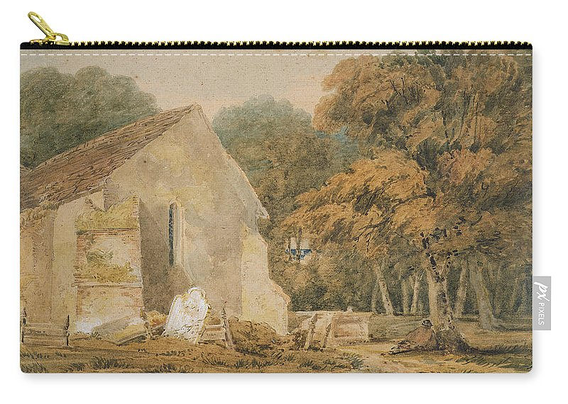 23 3x40 9cm Carry-all Pouch featuring the painting No.0735 A Country Churchyard, C.1797-98 by Thomas Girtin