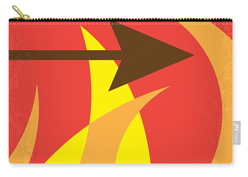Hunger Carry-all Pouch featuring the digital art No175 My Hunger Games Minimal Movie Poster by Chungkong Art