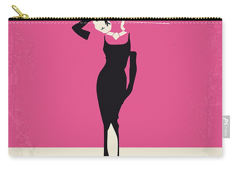Breakfast Carry-all Pouch featuring the digital art No204 My Breakfast at Tiffanys minimal movie poster by Chungkong Art