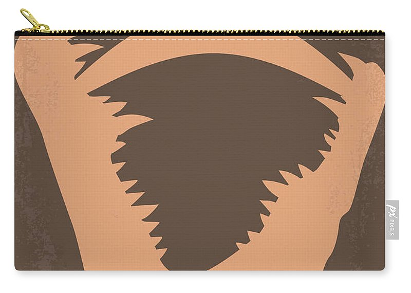 Crocodile Carry-all Pouch featuring the digital art No210 My Crocodile Dundee Minimal Movie Poster by Chungkong Art