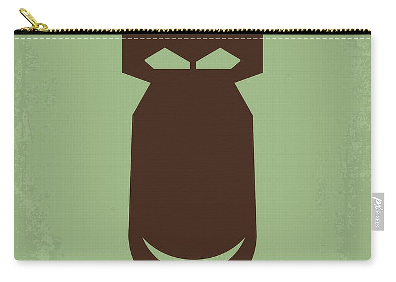 The Carry-all Pouch featuring the digital art No212 My The Dictator Minimal Movie Poster by Chungkong Art