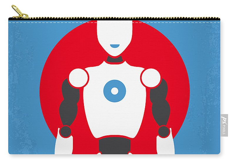 Robot Carry-all Pouch featuring the digital art No275 My I Robot Minimal Movie Poster by Chungkong Art