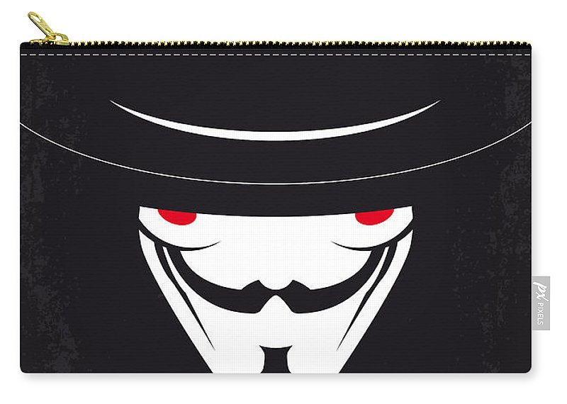 V For Carry-all Pouch featuring the digital art No319 My V For Vendetta Minimal Movie Poster by Chungkong Art