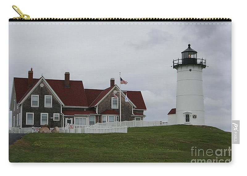 Lighthouse Carry-all Pouch featuring the photograph Nobska Point Light by Christiane Schulze Art And Photography