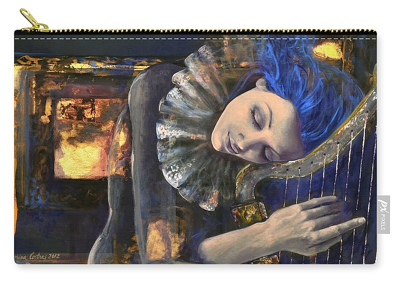 Fantasy Carry-all Pouch featuring the painting Nocturne by Dorina Costras