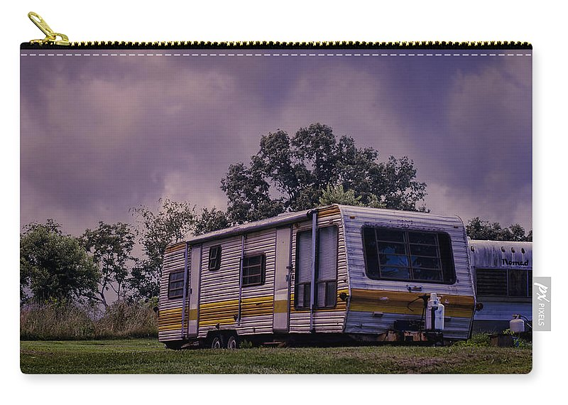 Trailers Carry-all Pouch featuring the photograph Nomads No More by Heather Applegate