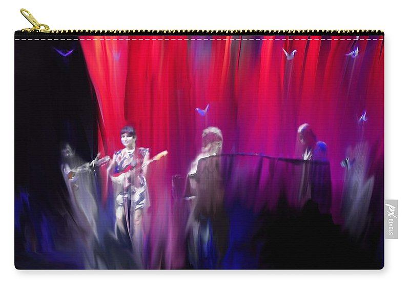 Norah Jones On Stage Carry-all Pouch featuring the painting Norah Jones On Stage by Usha Shantharam