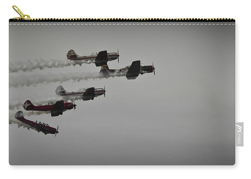 Transportation Carry-all Pouch featuring the photograph Norteast Raiders At The Greenwood Lake Airshow 2012 by Jorge Perez - BlueBeardImagery