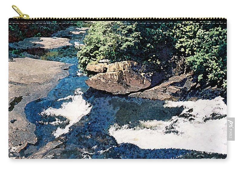 Landscape Carry-all Pouch featuring the digital art North Carolina Landscape by Steve Karol