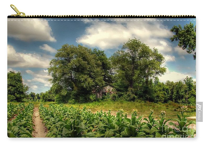 Tobacco Carry-all Pouch featuring the photograph North Carolina Tobacco Farm by Benanne Stiens