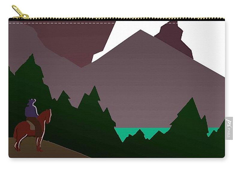 Vintage Carry-all Pouch featuring the photograph North Cascades National Park Vintage Poster by Eric Glaser