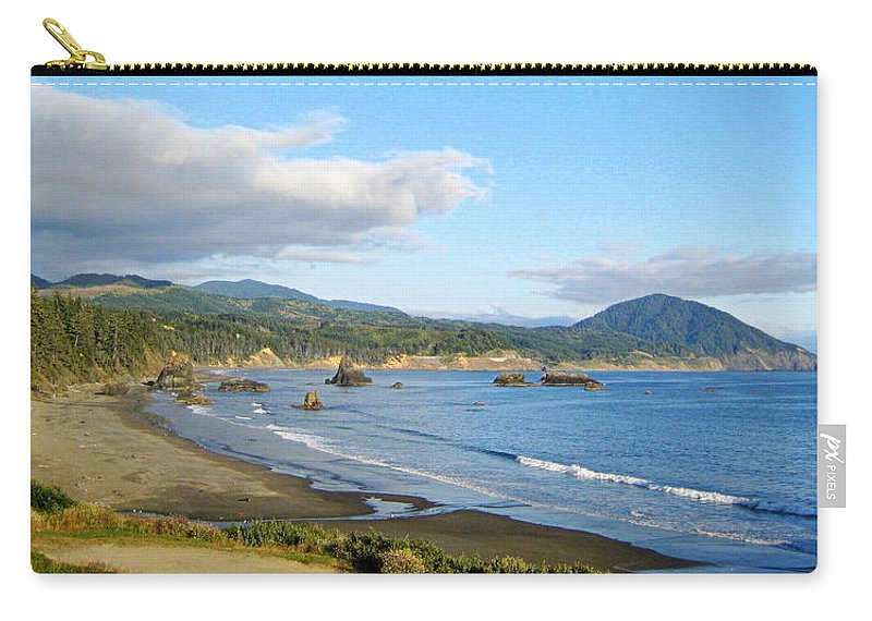 Scenic Carry-all Pouch featuring the photograph North Coast by AJ Schibig