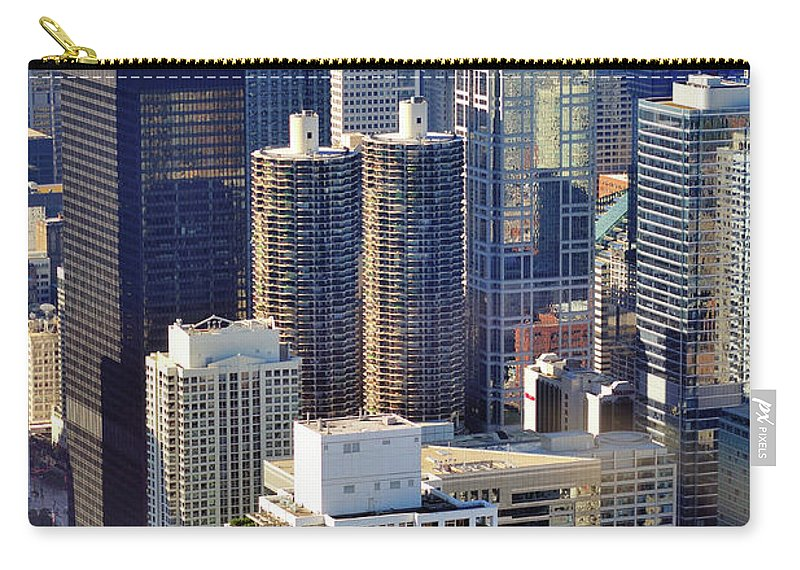 Chicago River Carry-all Pouch featuring the photograph North Loop Density by Bruce Leighty