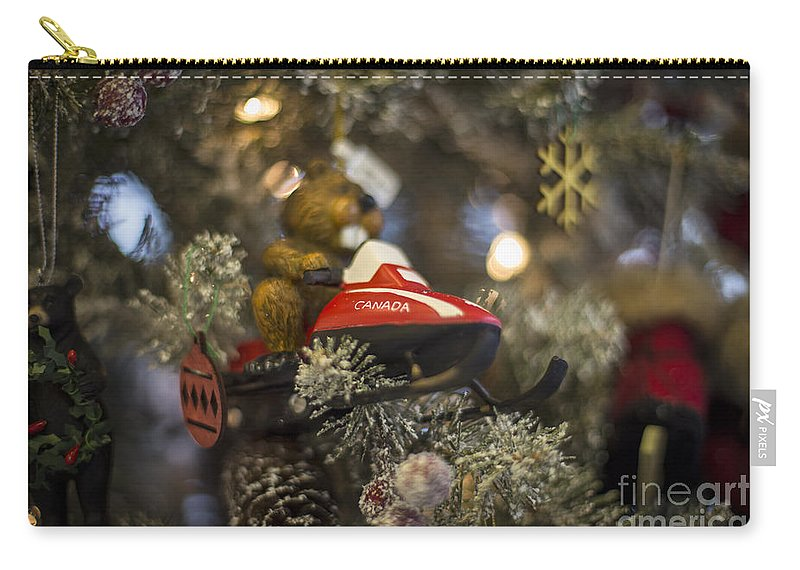 Canada Carry-all Pouch featuring the photograph North Pole Express by Evelina Kremsdorf