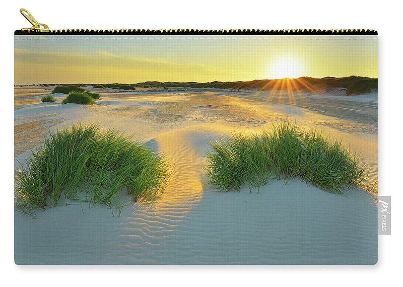 Scenics Carry-all Pouch featuring the photograph North Sea Sandbank Kniepsand by Raimund Linke