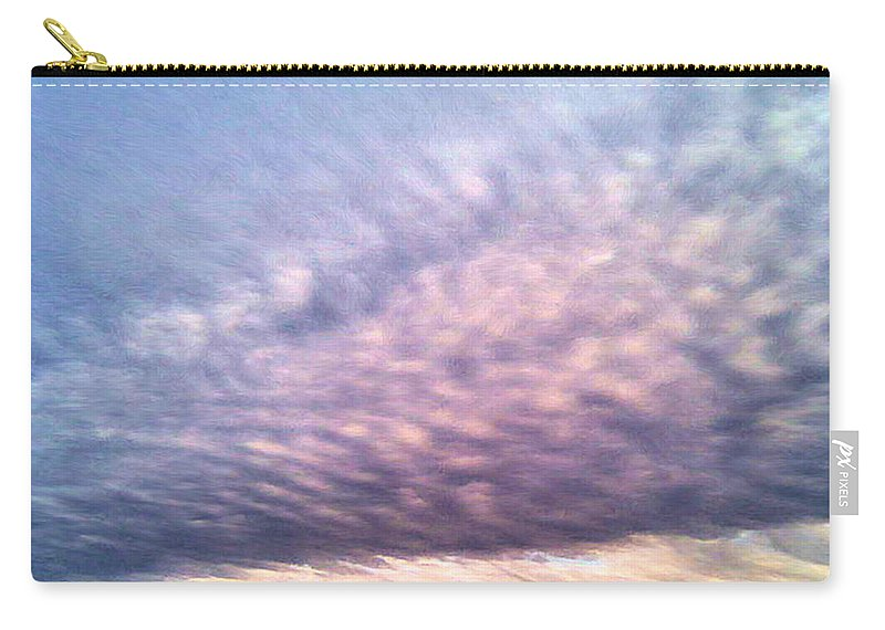 North Texas Carry-all Pouch featuring the painting North Texas Sky by Troy Caperton