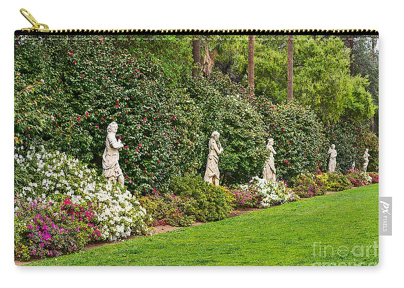 Spring Carry-all Pouch featuring the photograph North Vista - Spring Flower Blooms At The North Vista Lawn Of The Huntington Library. by Jamie Pham