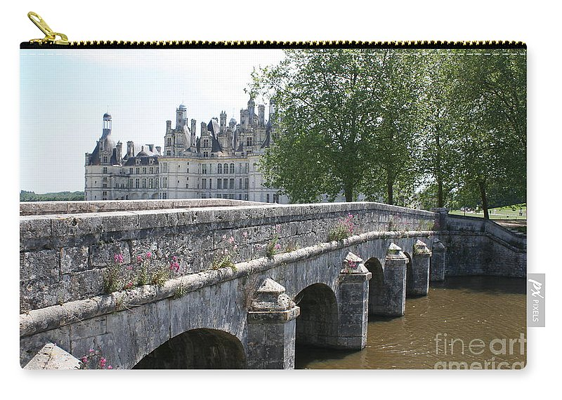 Palace Carry-all Pouch featuring the photograph Northwest Facade Of The Chateau De Chambord by Christiane Schulze Art And Photography