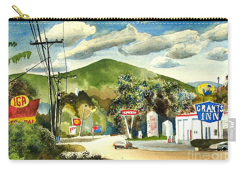 Nostalgia Arcadia Valley 1985 Carry-all Pouch featuring the painting Nostalgia Arcadia Valley 1985 by Kip DeVore