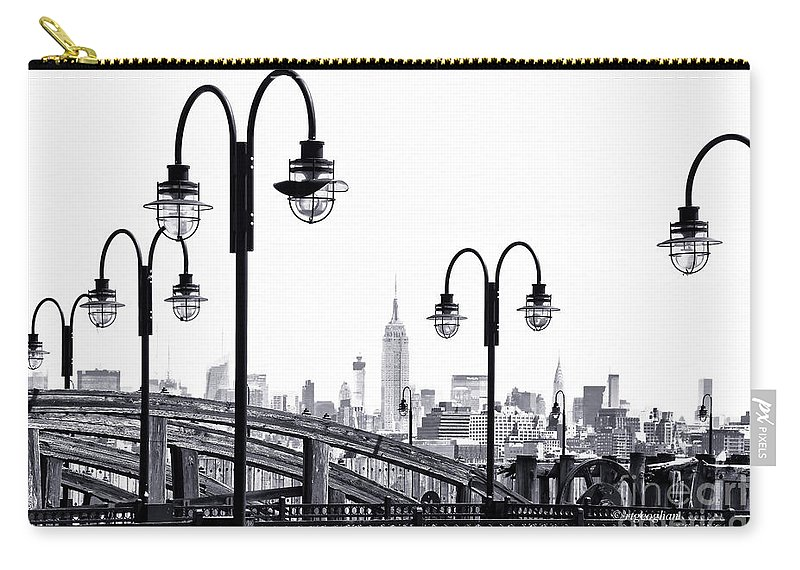 Liberty State Park Carry-all Pouch featuring the photograph Nostalgia-liberty State Park by Regina Geoghan
