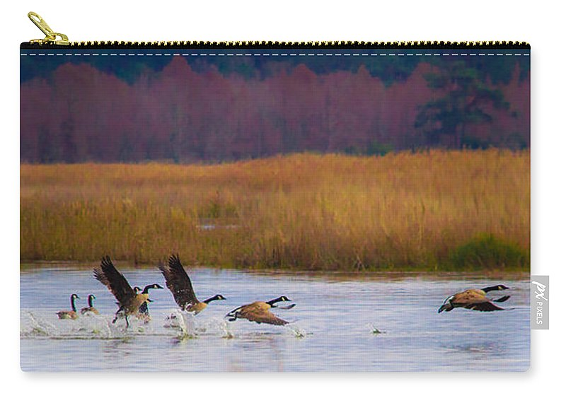 Follow Carry-all Pouch featuring the photograph Not Following The Crowd by Scott Hervieux