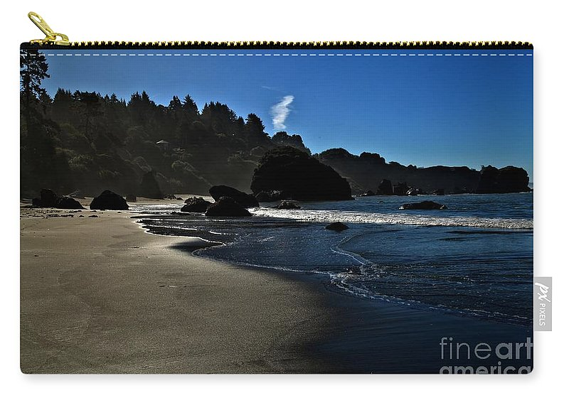 Trinidad California Carry-all Pouch featuring the photograph Not For Surfing by Adam Jewell