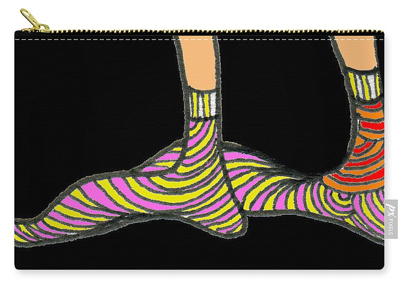 Genia Carry-all Pouch featuring the drawing ...not My Feet... by Genia GgXpress