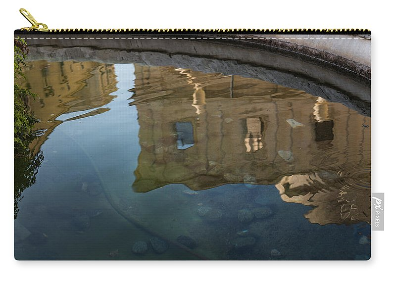 Italy Carry-all Pouch featuring the photograph Noto's Sicilian Baroque Architecture Reflected by Georgia Mizuleva