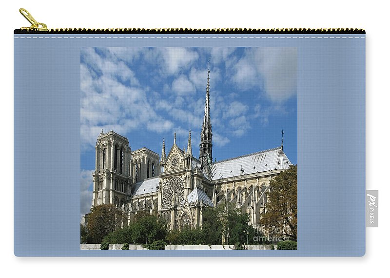 Notre Dame Carry-all Pouch featuring the photograph Notre Dame Cathedral by Ann Horn