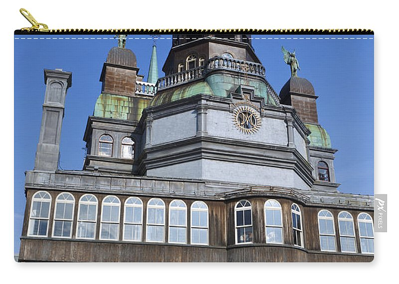 Travel Carry-all Pouch featuring the photograph Notre-dame De Bonsecours Chapel And Marguerite Bourgeoys Museum by Jason O Watson