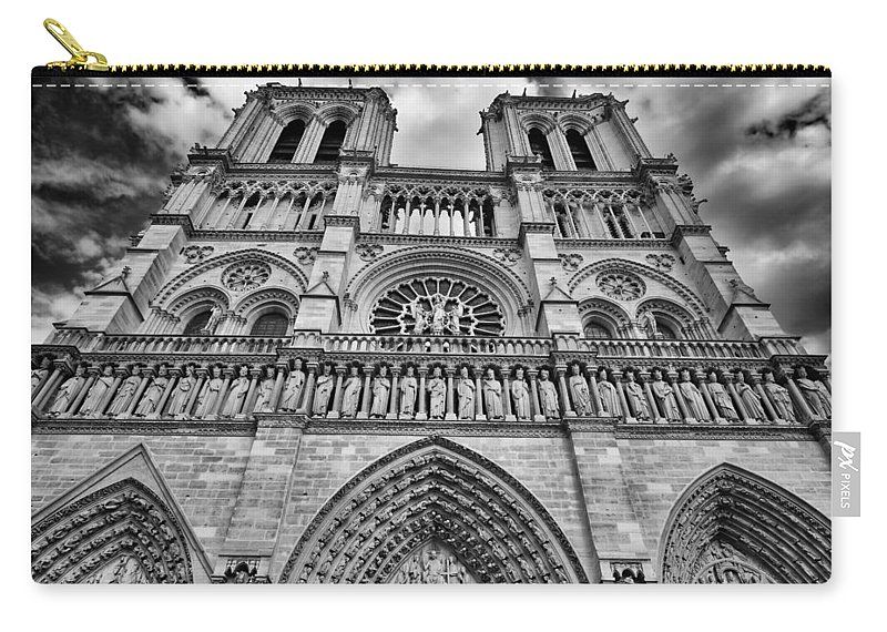 Architecture Carry-all Pouch featuring the photograph Notre Dame by Raul Rodriguez