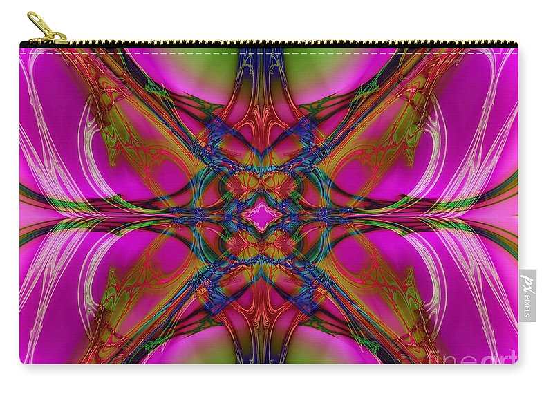 Carry-all Pouch featuring the digital art Nouveau Pink by Elizabeth McTaggart