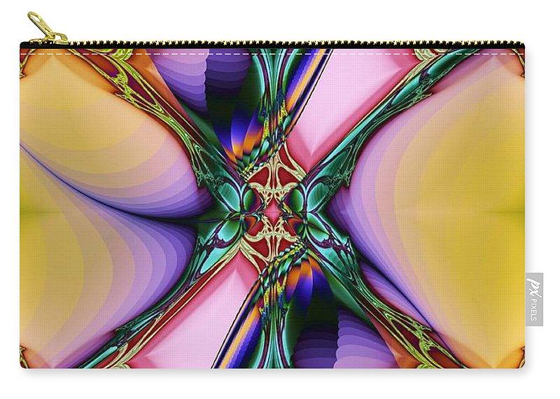 Nouveau Twist Carry-all Pouch featuring the digital art Nouveau Twist by Elizabeth McTaggart