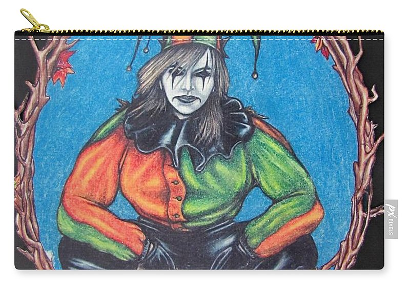 Michael Carry-all Pouch featuring the drawing November Snow by Michael TMAD Finney