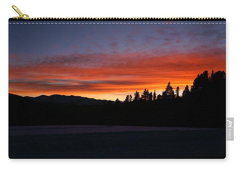 November's Embers Carry-all Pouch featuring the photograph Novembers Embers by Jeremy Rhoades