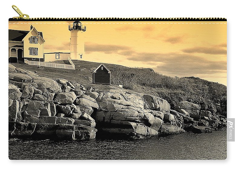York Carry-all Pouch featuring the photograph Nubble by Mim White