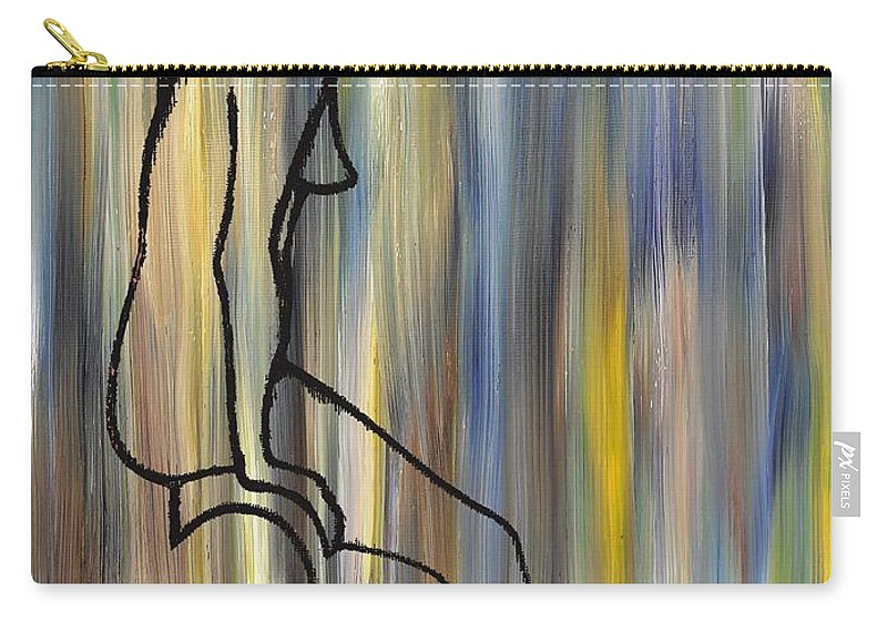 Nude Carry-all Pouch featuring the painting Nude 14 by Patrick J Murphy
