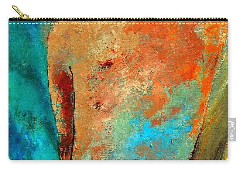 Nude Carry-all Pouch featuring the painting Nude 453140 by Pol Ledent