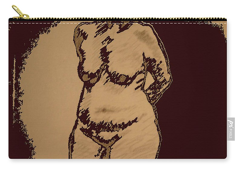 Genio Carry-all Pouch featuring the mixed media Nude Acting by Genio GgXpress