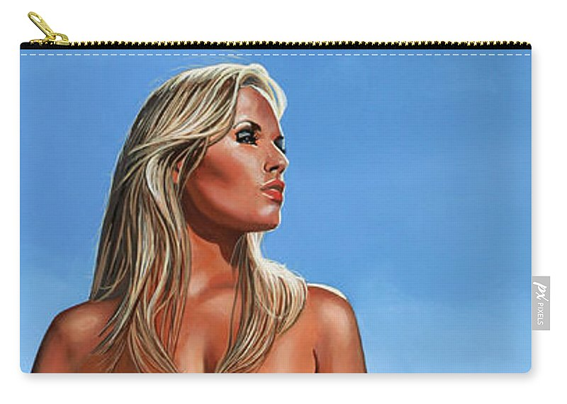 Paul Meijering Carry-all Pouch featuring the painting Nude Blond Beauty by Paul Meijering