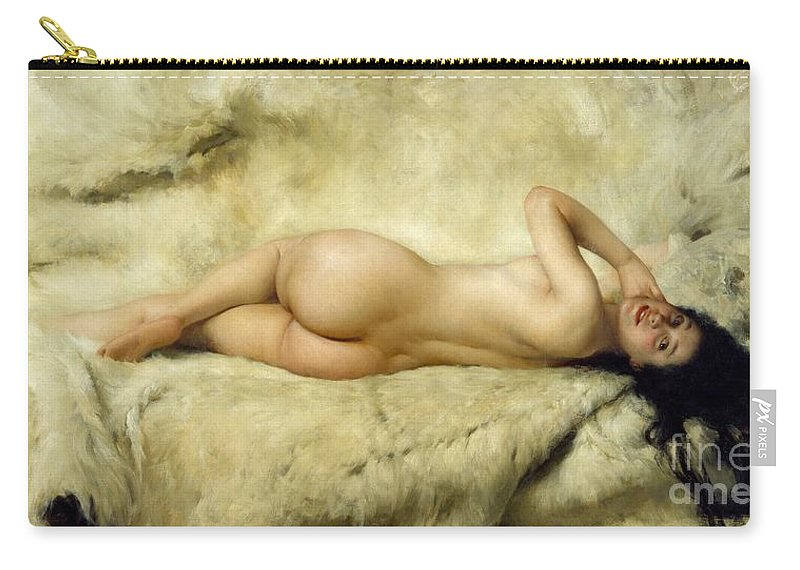 Art Carry-all Pouch featuring the painting Nude by Giacomo Grosso