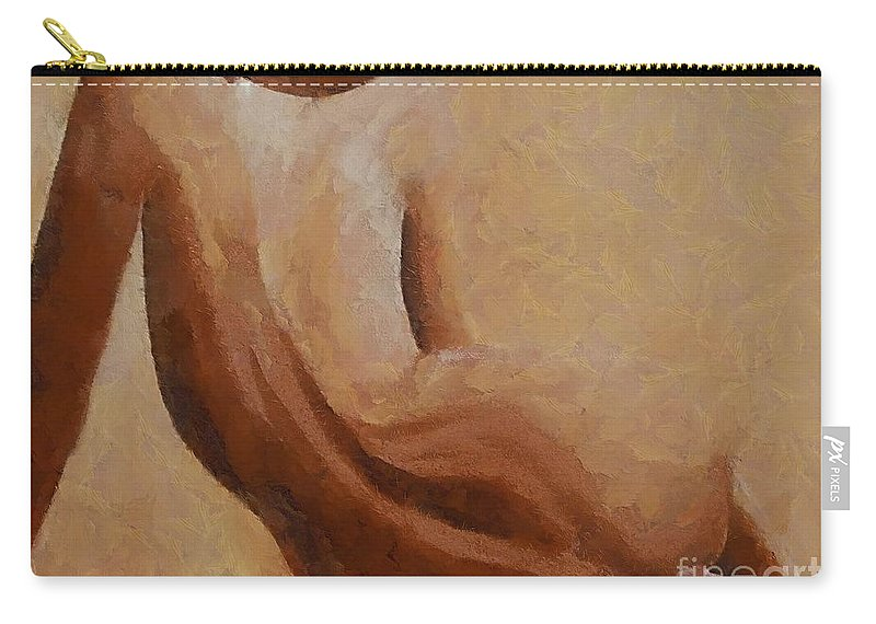 Nude Carry-all Pouch featuring the painting Nude II by Dragica Micki Fortuna